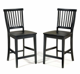 "24"" Bistro Stool in Ebony - Arts and Crafts - 5181-89"