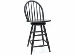 "24"" Black Swivel Counter Stool - Carolina Chair - S53-712"