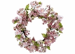 "24"" Cherry Blossom Wreath - Nearly Natural - 4783"
