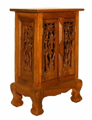"24"" Coconut Palm Storage Cabinet / Nightstand in Natural - frt1049"