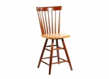 "24"" Copenhagen Swivel Stool in Cinnamon / Espresso - S58-2902"