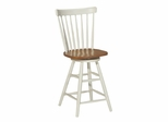 "24"" Copenhagen Swivel Stool in Heritage Pearl / Oak - S60-2902"