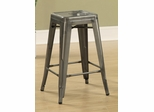 "24"" Counter Height Stool in Antique Silver  - Set of 2 - 103059CL"