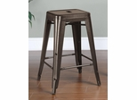 "24"" Counter Height Stool in Burnished Bronze - Set of 2 - 103059BR"