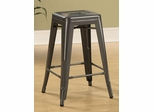 "24"" Counter Height Stool in Gunmetal - Set of 2 - 103059GN"