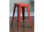 "24"" Counter Height Stool in Red - Set of 2 - 103059R"