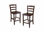 "24"" Counter Ladder Back Stool - Set of 2 - Winsome Trading - 94244"