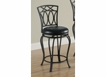 "24"" Elegant Metal Barstool with Black Seat - 122059"