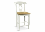 "24"" Empire Stool in Linen White - S31-122"