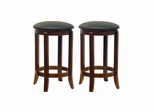"24"" Faux Leather Swivel Stool - Set of 2 - Winsome Trading - 94624"
