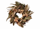 "24"" Feather and Berry Wreath - Nearly Natural - 4681"