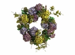 "24"" Hydrangea Wreath in Mixed - Nearly Natural - 4666"