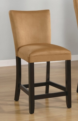 24 Inch Bar Chair (Set of 2) in Gold Ochre - Coaster