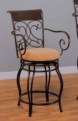 24 Inch Bar Stool in Dark Brown - Coaster