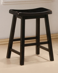 24 Inch Bar Stool (Set of 2) in Black - Coaster