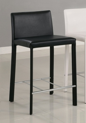 24 Inch Bar Stool (Set of 2) in Black - Coaster - COAST-1100329BLK1-SET