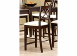 24 Inch Bar Stool (Set of 2) in Cappuccino - Coaster