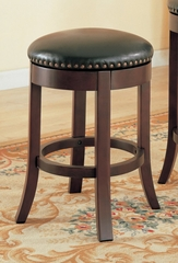 24 Inch Bar Stool (Set of 2) in Cherry - Coaster
