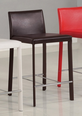 24 Inch Bar Stool (Set of 2) in Chocolate - Coaster