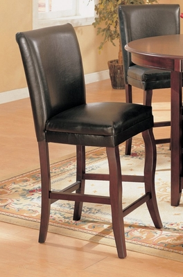 24 Inch Bar Stool (Set of 2) in Dark Cherry - Coaster