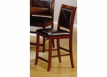 24 Inch Bar Stool (Set of 2) in Deep Distressed Dark Brown - Coaster