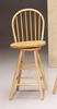 24 Inch Swivel Windsor Bar Stool in Natural - Coaster