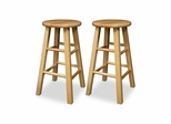 "24"" Kitchen Stools Natural Beechwood - Set of 2 - Winsome Trading - 83224"