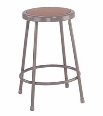 "24"" Lab Stool with Hardboard Seat - National Public Seating - 6224"