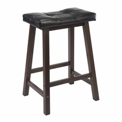 "24"" Mona Cushion Saddle Seat Stool - Winsome Trading - 94064"