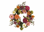 "24"" Peony Wreath in Mixed - Nearly Natural - 4664"