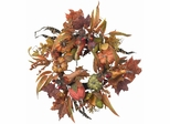 "24"" Pumpkin and Berry Wreath - Nearly Natural - 4924"