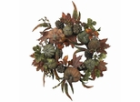 "24"" Pumpkin and Gourd Wreath - Nearly Natural - 4902"