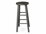 "24"" Roundtop Stool in Black - 1S46-424"