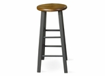 "24"" Roundtop Stool in Black / Cherry - 1S57-424"