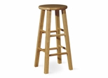 "24"" Roundtop Stool in Natural - 1S01-424"