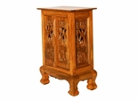 "24"" Royal Thai Elephant Storage Cabinet / Nightstand in Natural - frt1048"