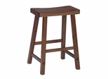 "24"" Saddle Seat Stool in Rustic Oak - 1S43-682"