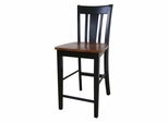 "24"" San Remo Counter Height Stool in Black / Cherry - S57-102"