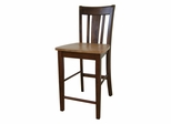 "24"" San Remo Counter Height Stool in Cinnamon / Espresso - S58-102"