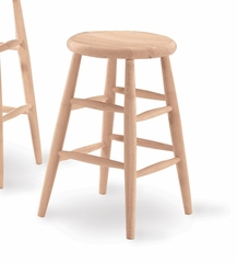 "24"" Scooped Seat Stool - 1S-824"
