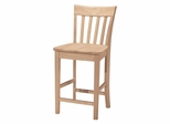 "24"" Slat Back Stool - S-3012"