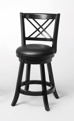 "24"" Swivel Bar Stool (Set of 2) in Black - Coaster - 101959-SET"