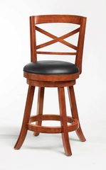 "24"" Swivel Bar Stool (Set of 2) in Light Cherry - Coaster - 101939-SET"