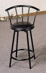 "24"" Swivel Bar Stool with Back (Set of 2) in Black - Coaster - 2395-SET"
