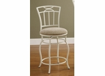 "24"" White Metal Barstool with Upholstered Seat - 122049"