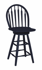 "24"" Windsor Arrowback Swivel Stool in Black - S46-612"