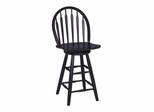 "24"" Windsor Arrowback Swivel Stool in Merlot - S49-612"