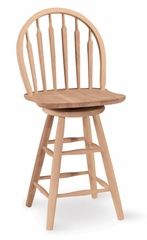 "24"" Windsor Arrowback Swivel Stool - S-612"