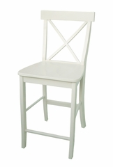 "24"" X-Back Counter Height Stool in Linen White - S31-6132"