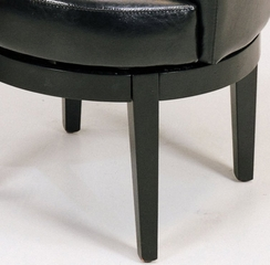 247 Swivel Club Chair in Black Leather - Armen Living - LC247ARSWBL
